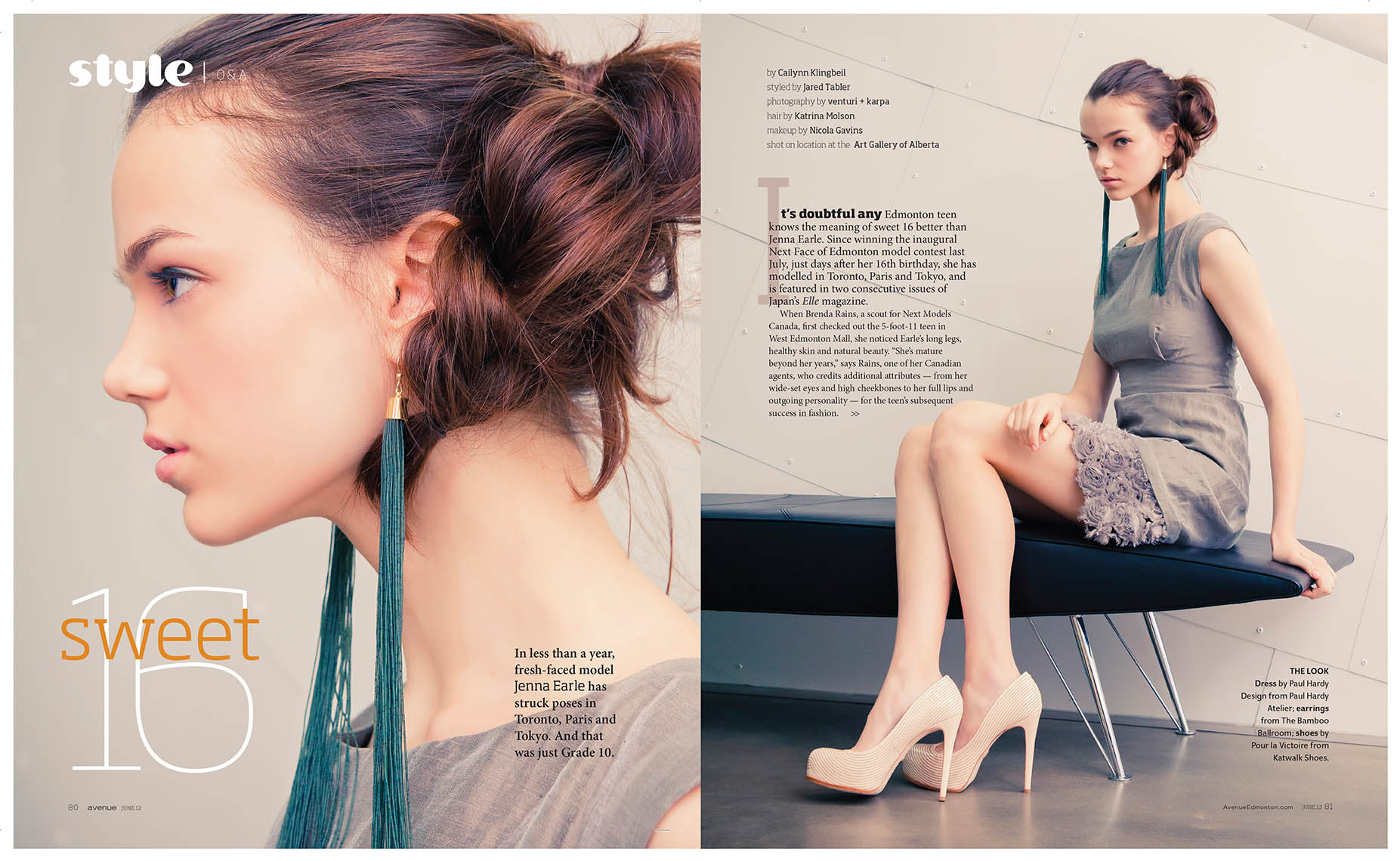 Jenna Earle Avenue Magazine Spring Fashion