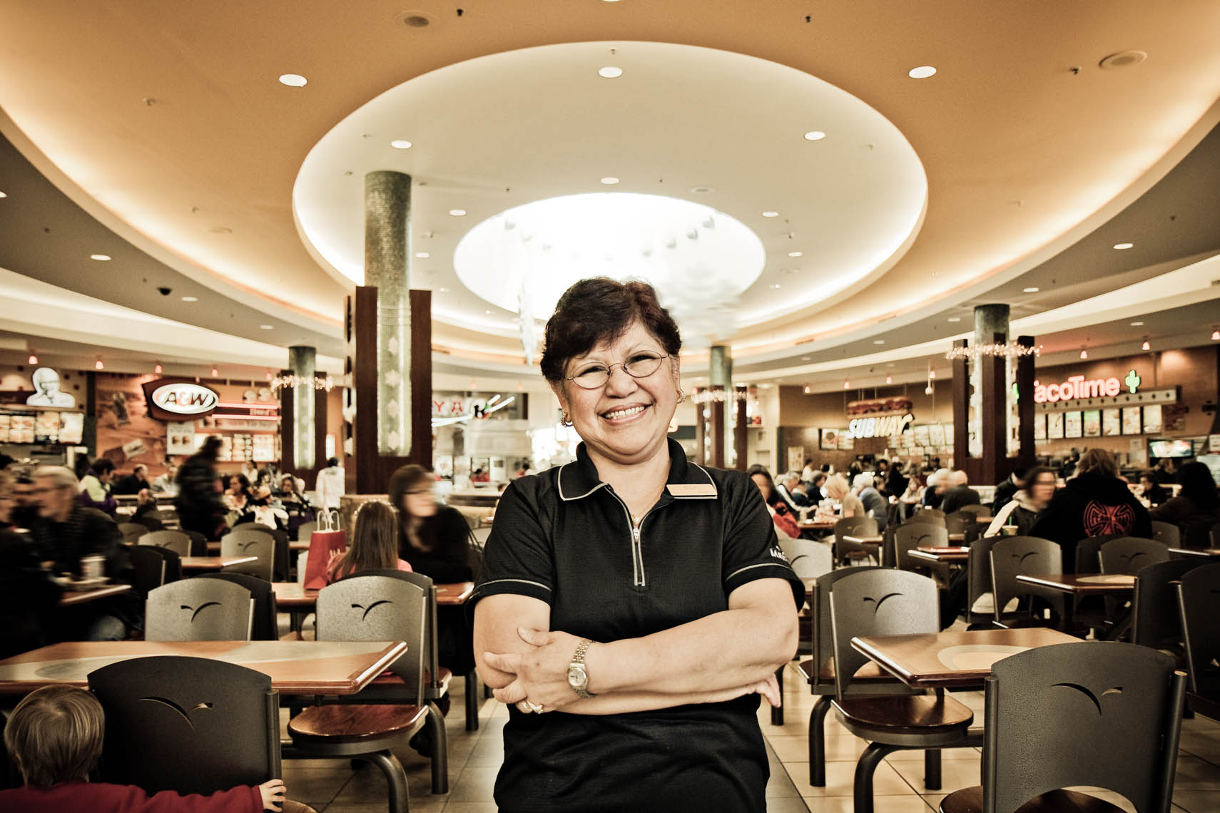 Shopping Mall Food Court Worker