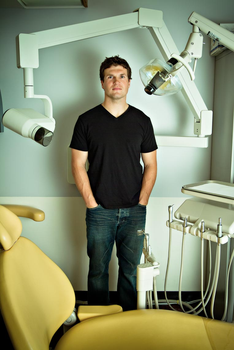 Dentist for magazine editorial